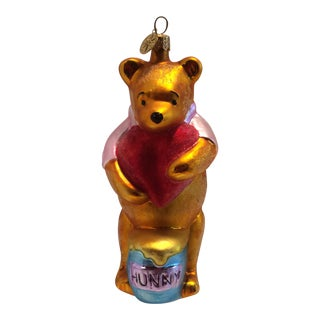 Christopher Radko Winnie The Pooh Holding a Heart Ornament