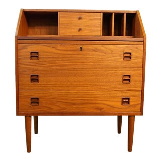 "Danish Modern Teak Secretary Dresser - ""Jens"""