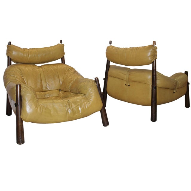Percival Lafer Leather Armchairs - A Pair - Image 1 of 4