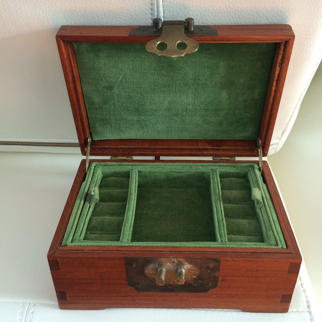 Vintage Chinese Rosewood & Brass Box - Image 3 of 6
