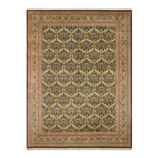 "Hamjolie Pak-Persian Lela Green/Gold Wool Rug - 10'1"" X 14'0"""