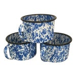 Enamel Spatterware Mugs - Set of 3