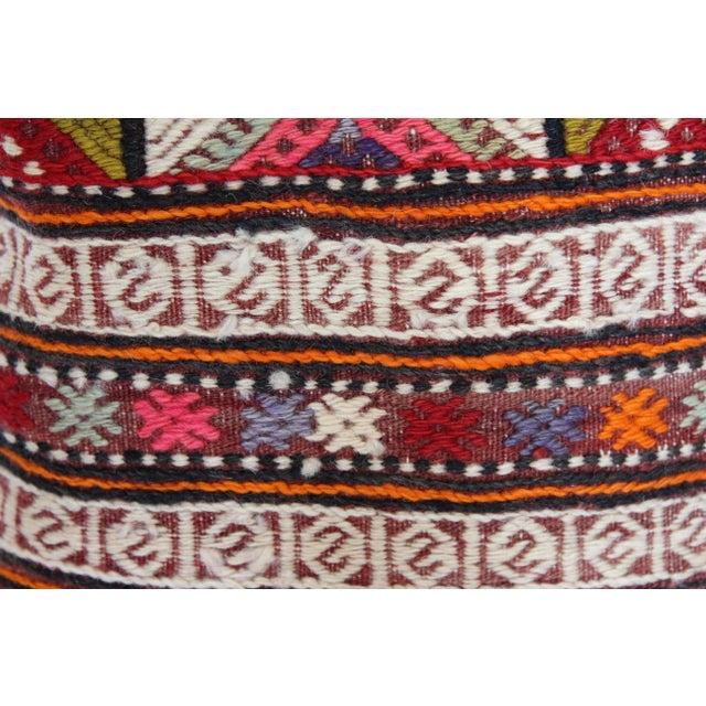 "Kilim Pillow Handmade Pillowcase Boho Chic Vintage - 16"" x 16"" - Image 5 of 7"