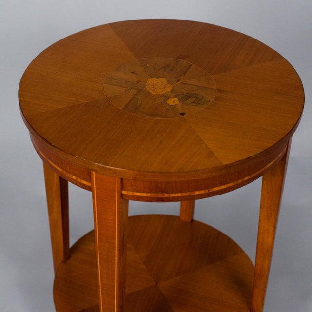 1900s French Louis XVI Style Mahogany Side Table - Image 4 of 10