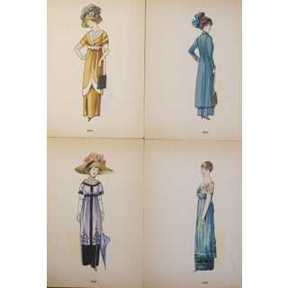 Original 1910 French Fashion Plates - Set of 4