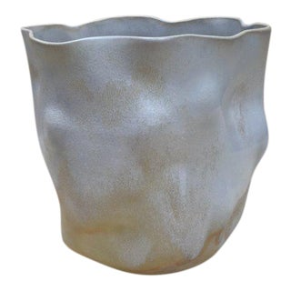 Textured Wavy Ceramic Vessel