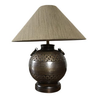 Frederick Cooper Etruscan Burnished Bronze Lamp & Shade