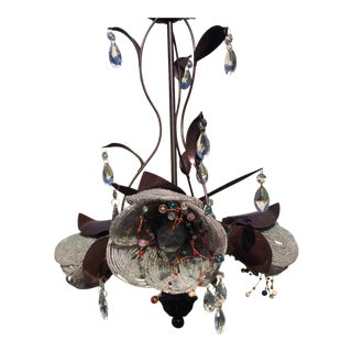 Contemporary Beaded Flower Chandelier