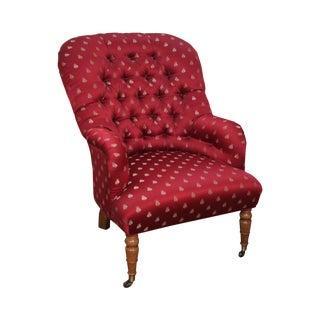 Custom Tufted Regency Style Lounge Chair by Brandywine Design