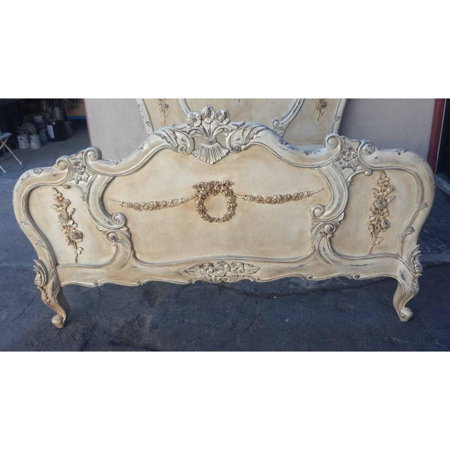 Image of French Louis XV Style Bed Queen-Size