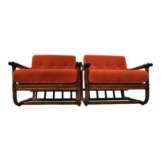 Italian 1960 Stylish Bamboo Lounge Set