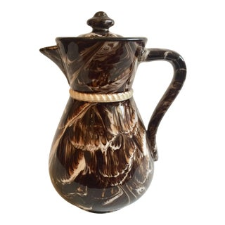 McIntyre English Marbleized Creamware Coffee Pot