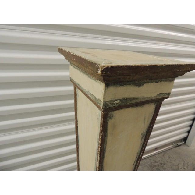 Vintage Square Distressed Painted Plinth - Image 5 of 5