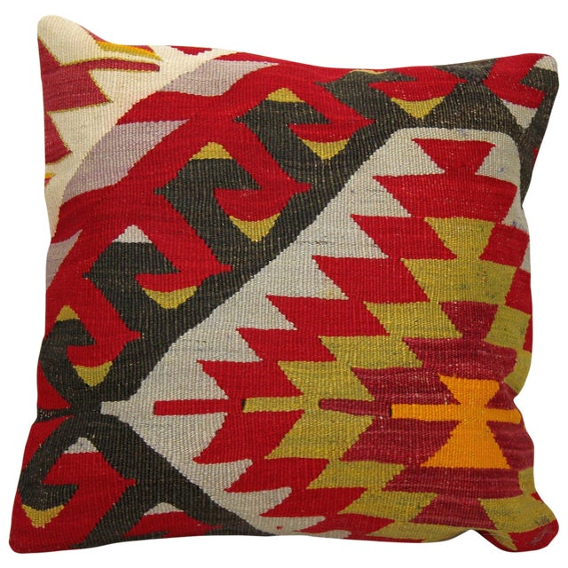 Turkish Handmade Kilim Pillow - Image 1 of 6