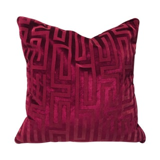 Robert Allen Fuchsia Geometric Pillow
