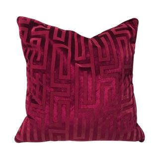 Robert Allen Fuchsia Geometric Pillow