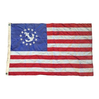 Vintage USA Maritime Yacht Ensign Boat Flag Small