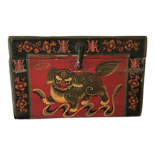 Qing Dynasty Hand Painted Chinese Chest