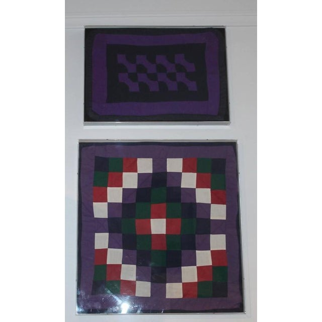 Image of Collection of Four Rare Pennsylvania Amish Doll Quilts