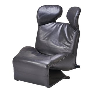 Black Leather Wink Chair
