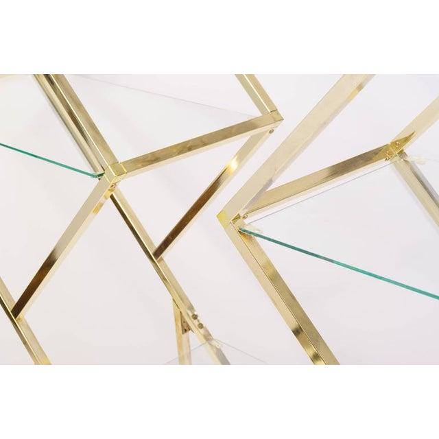 Brass Diamond Sculptural Etagere - Image 4 of 4