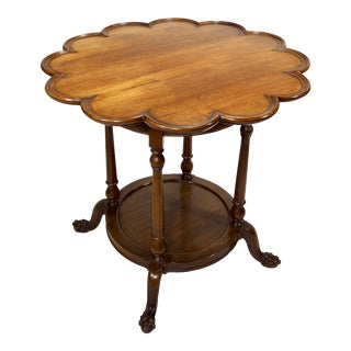 Round Scallop Edge Side Table