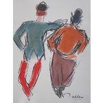 Image of Limited Ed. Lithograph Mid 20th C. Clowns of Paris