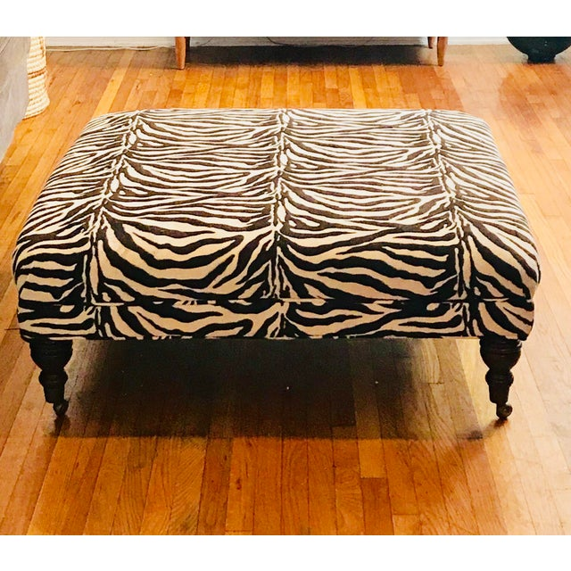 Zebra Ottoman Coffee Table - Image 4 of 4