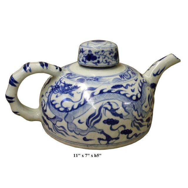 Chinese Blue & White Porcelain Teapot - Image 5 of 5