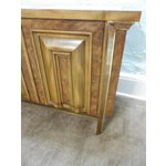 Image of Mastercraft Hollywood Regency Burl Wood Sideboard