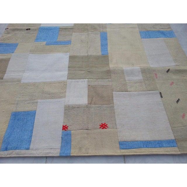"Turkish Patchwork Overdyed Rug -- 5'1"" x 7'8"" - Image 3 of 6"