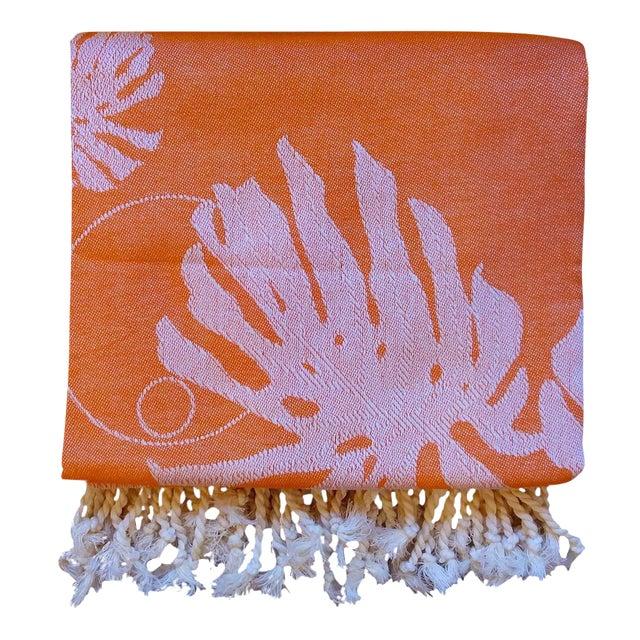 Coral & Orange Towalla Towel - Image 1 of 6