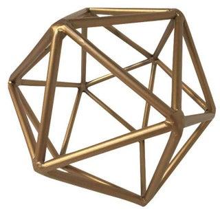 Gold Metal Geometric Decor Piece