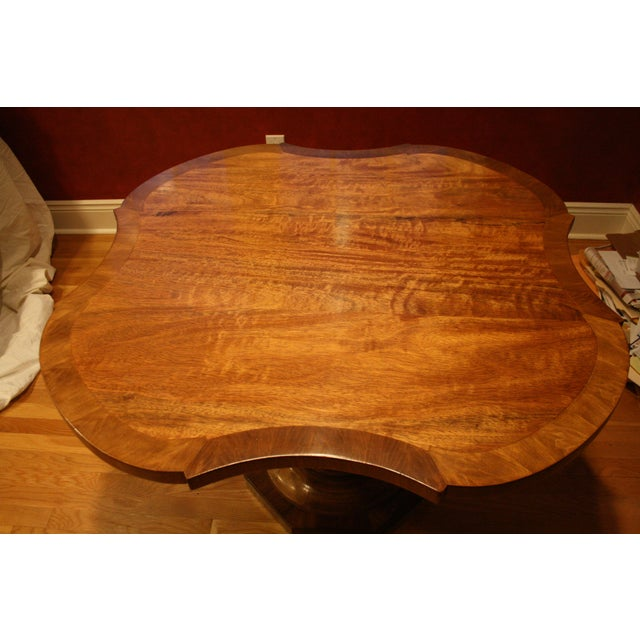 Inlaid Top Pedestal Dining Table - Image 6 of 6