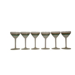 Antique Glam Art Deco Martini Glasses - Set of 6