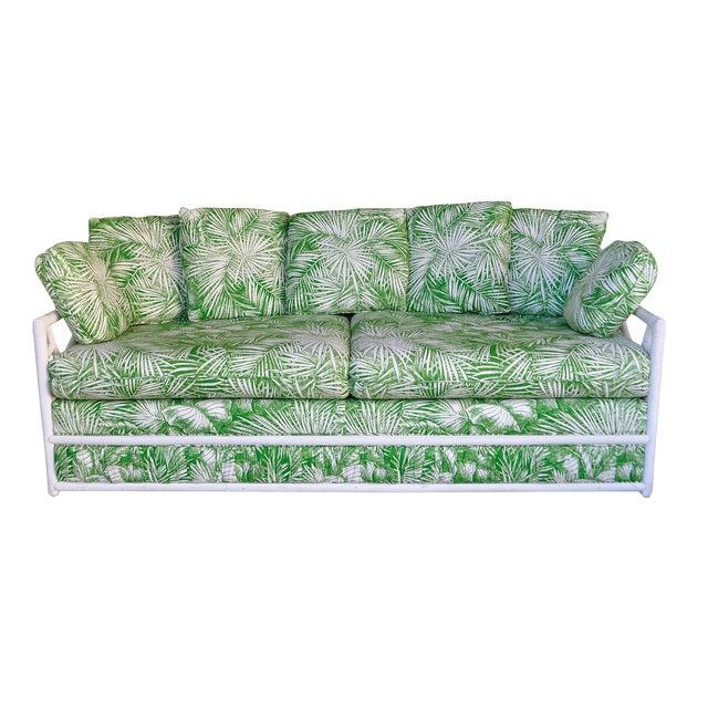 Ficks Reed Vintage Palm Leaf Sofa - Image 1 of 5