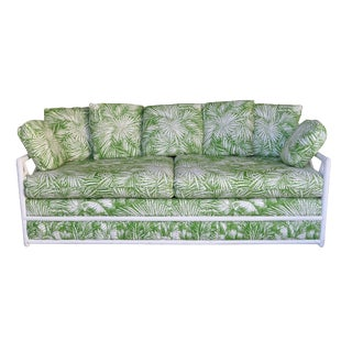 Ficks Reed Vintage Palm Leaf Sofa