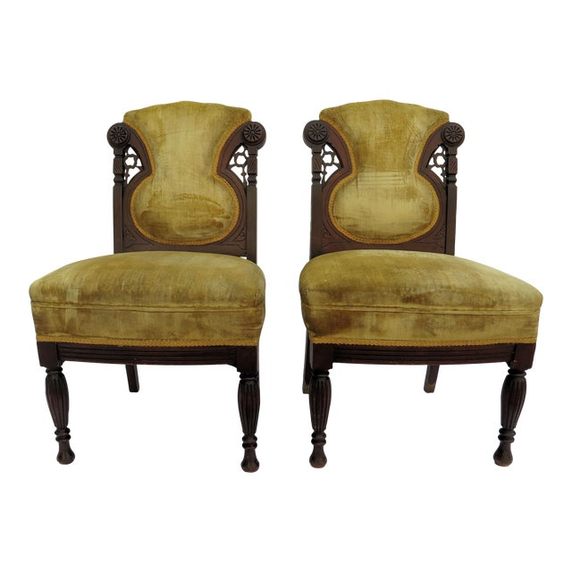 19th Century French Side Chairs - A Pair - Image 1 of 5