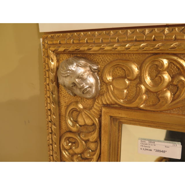 Friedman Brothers Custom Mirror With Cherub Heads - Image 4 of 11
