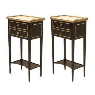 Vintage French Louis XVI Nightstands - A Pair