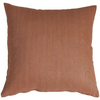 Pillow Decor - Ticking Stripe Sienna 15x15 Pillow