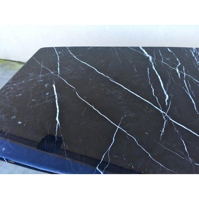 Black Modern Italian Marble Dining Table - Image 6 of 10