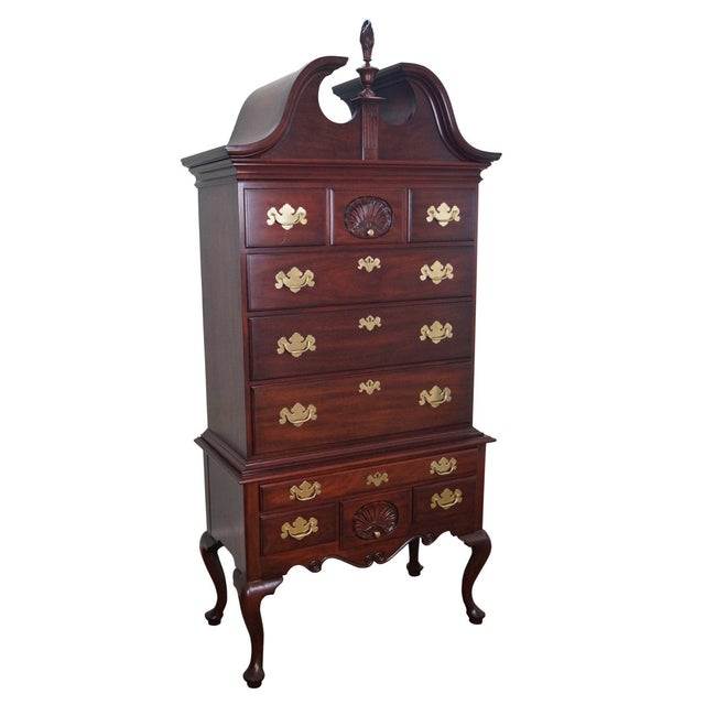 Henkel Harris Solid Mahogany Queen Anne Highboy Chest - Image 1 of 10