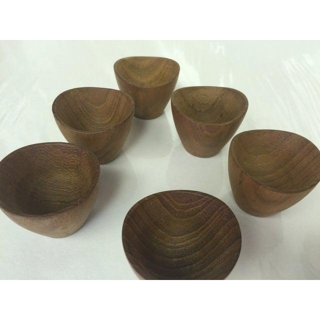Image of Ernst Henriksen Tiny Danish Teak Bowls - Set of 6