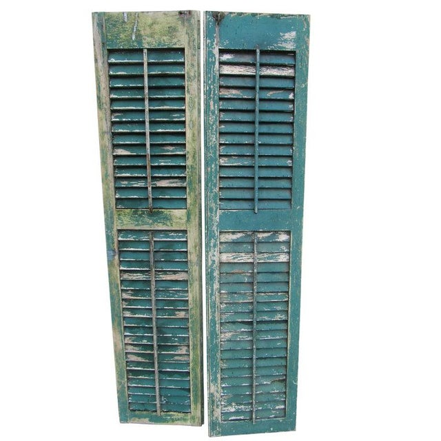 Rustic Cape May Victorian Shutters - A Pair - Image 1 of 5
