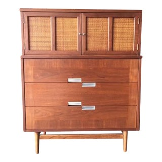 American of Martinsville Mid-Century Refinished Highboy Dresser
