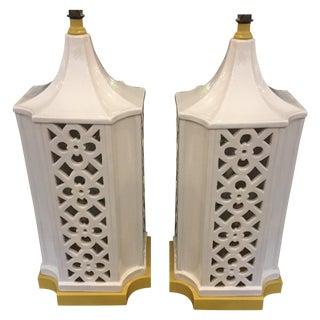 Italian Asian-Style Lamps - A Pair