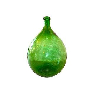 Hand Blown Green Glass Wine Carafe