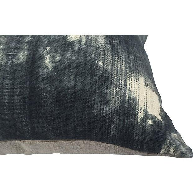 African Grey Tie Dye Mud Cloth Pillows - A Pair - Image 5 of 5