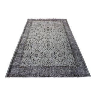 "Gray Color Turkish Overdyed Rug - 5'8"" X 9'1"""